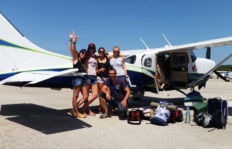 Účastníci vyhlídkových letů